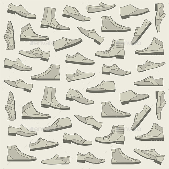 GraphicRiver Shoes Seamless Pattern 9854620