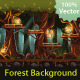 Tillable Background Night Forest - GraphicRiver Item for Sale