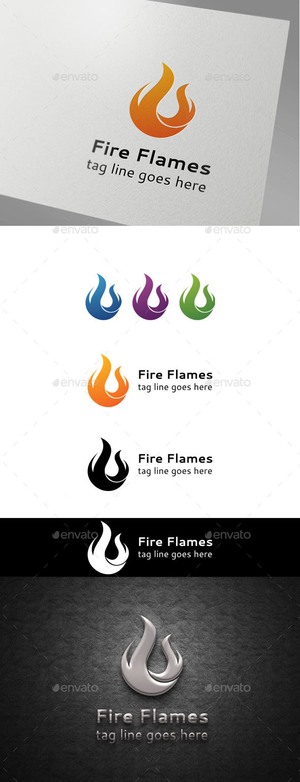 GraphicRiver Fire Flames logo 9854689
