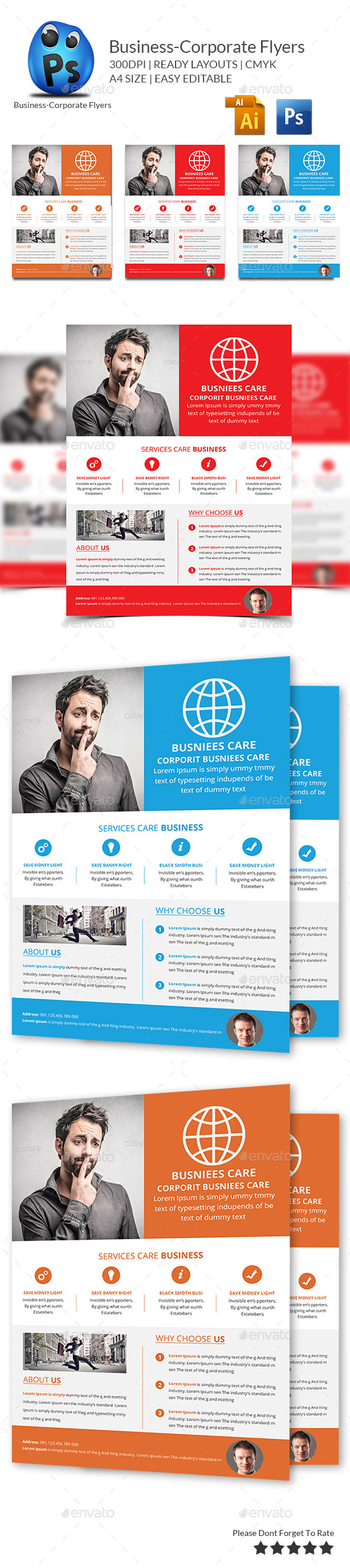 GraphicRiver Best Business Flyers Templates 9854717