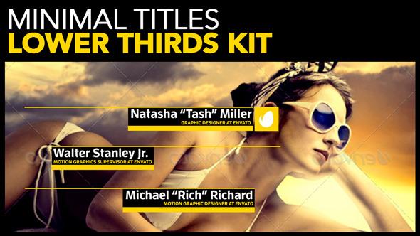 Minimal Titles Lower Thirds Kit