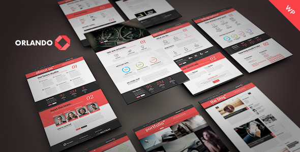 ThemeForest Orlando Creative Infographics WordPress Template 9854776