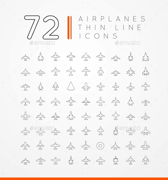 GraphicRiver Airplane Icons 9854778