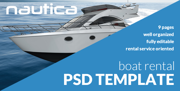 ThemeForest Nautica Boat Rental PSD Template 9854959