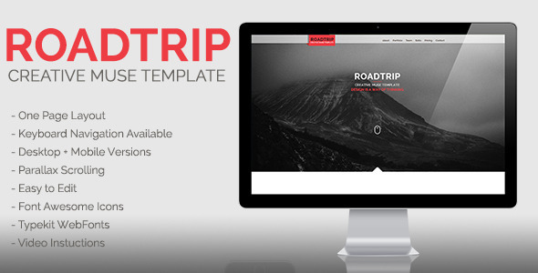 ThemeForest Roadtrip Creative Muse Template 9855024