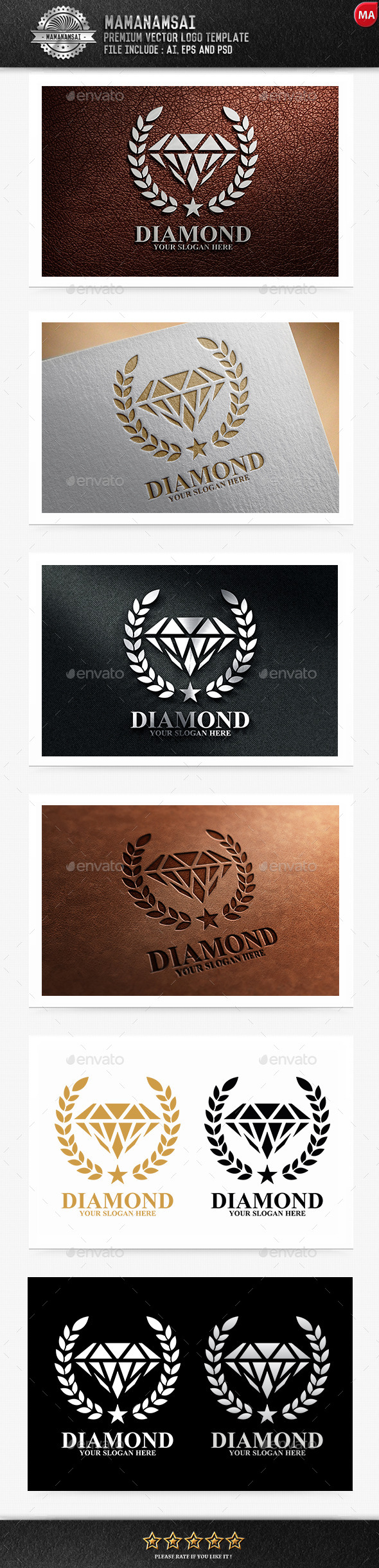 GraphicRiver Diamond Logo 9855026