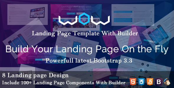 ThemeForest WOW Landing Page Template with Page Builder 9794602