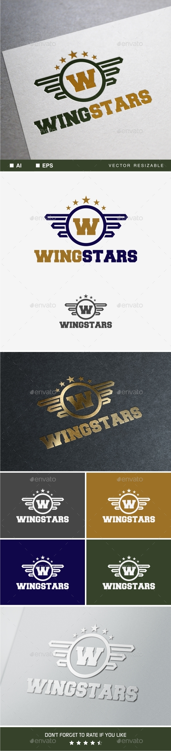 GraphicRiver Wingstars Logo 9855115