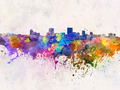 Anchorage skyline in watercolor background - PhotoDune Item for Sale