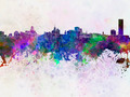 Buffalo skyline in watercolor background - PhotoDune Item for Sale