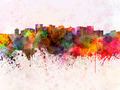 Oakland skyline in watercolor background - PhotoDune Item for Sale