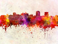 Colorado Springs skyline in watercolor background - PhotoDune Item for Sale