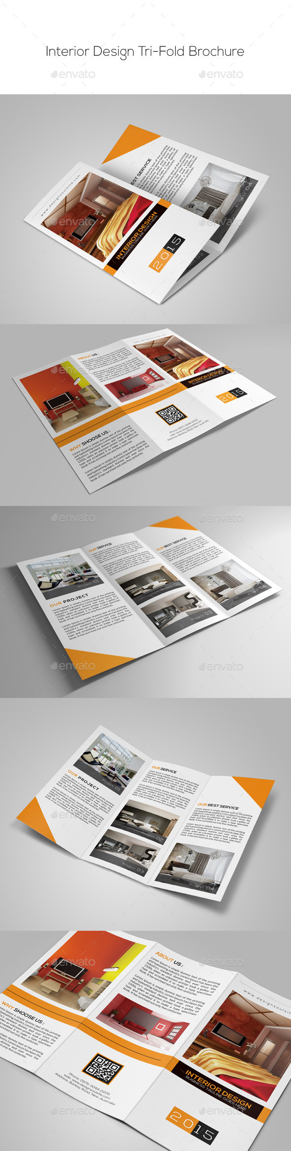 GraphicRiver Interior Design Trifold Brochure 9855152