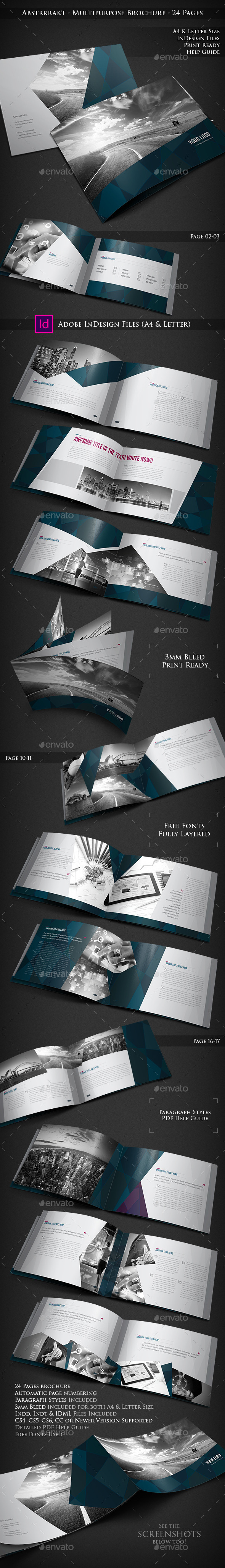 GraphicRiver Abstrrrakt Multipurpose Brochure 24 Pages 9855213