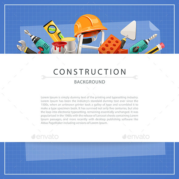 GraphicRiver Blueprint Construction Background with Copy Space 9845189
