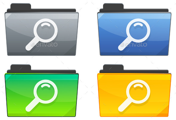GraphicRiver Search Folder Icon Set Illustration 9855239