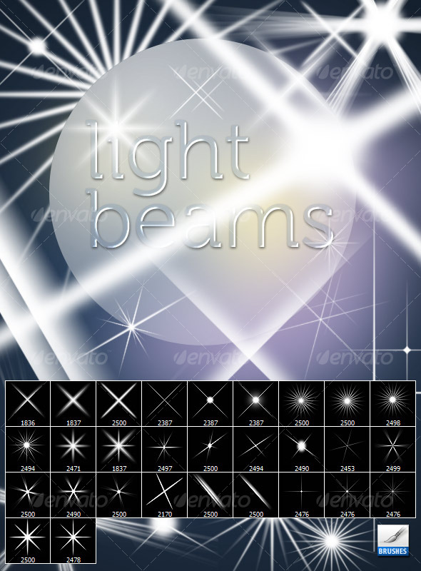 GraphicRiver Light Beams Brush 125149