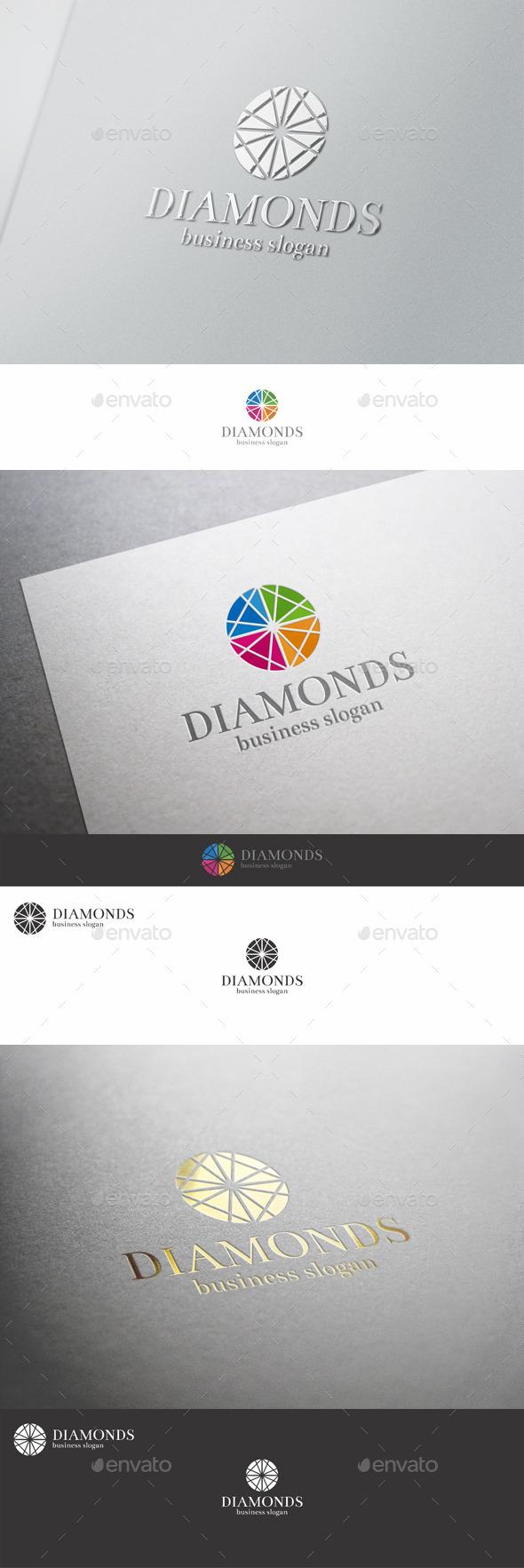 GraphicRiver Diamonds Logo Template 9855773