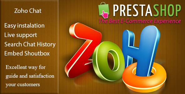 CodeCanyon Zoho Chat for Prestashop 9855776