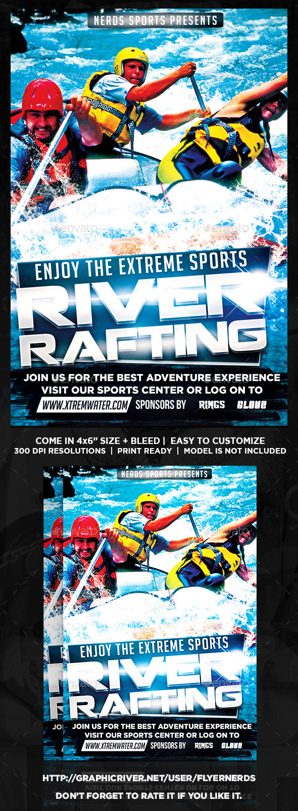 GraphicRiver Extreme Water Sports Flyer 9823201