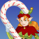 Christmas Elf Girl with Candy - GraphicRiver Item for Sale