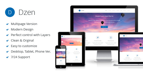 ThemeForest Dzen Multipurpose Muse Template 9856044