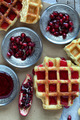 Waffle And Pomegranate Seeds - PhotoDune Item for Sale