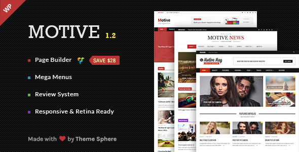 Motive - Magazine, News, Blog WordPress Theme - News / Editorial Blog / Magazine