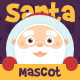 Cute Santa Mascot Sign Holding Creation Kit - GraphicRiver Item for Sale