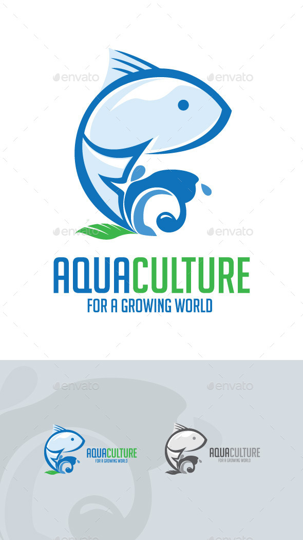 GraphicRiver Aqua Culture Logo 9856453