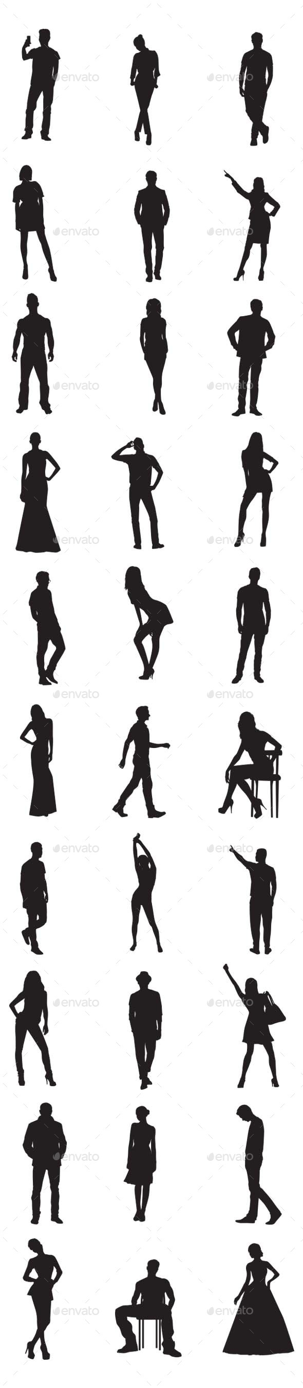 GraphicRiver People Silhouettes 9856465