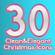 Clean & Elegant 30 Christmas Icons - GraphicRiver Item for Sale