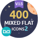 400 Mixed Flat Icons 2 - GraphicRiver Item for Sale