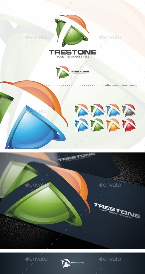 GraphicRiver Trestone T Letter Logo Template 9857249