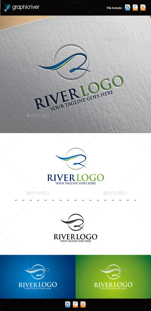 GraphicRiver Letter R River Logo 9857261