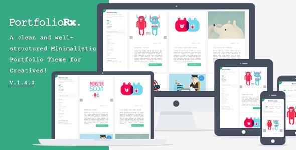 PortfolioRx - Minimalistic Portfolio Theme - Portfolio Creative