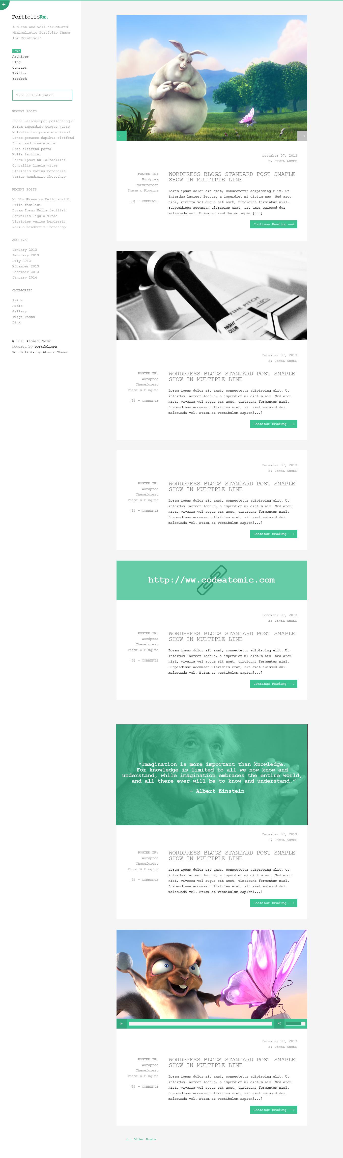 PortfolioRx - Minimalistic Portfolio Theme