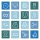 Science Lines Icons Set - GraphicRiver Item for Sale