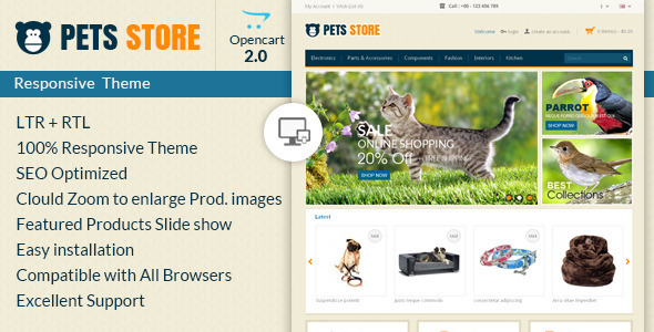 Pet Store - Opencart Responsive Theme - OpenCart eCommerce