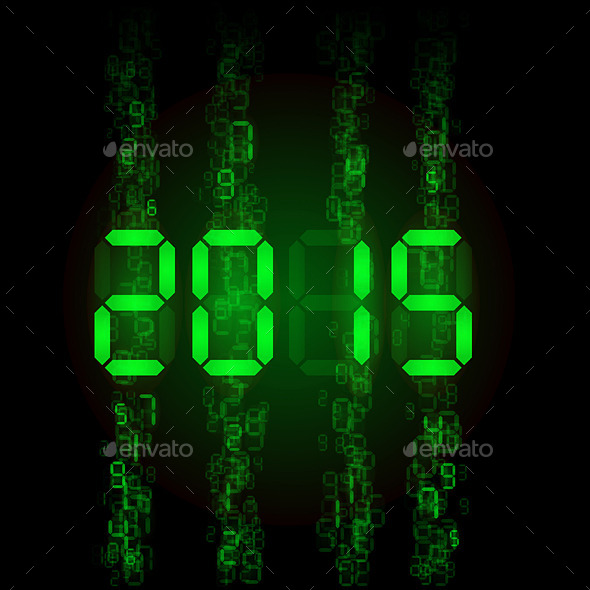 GraphicRiver Digital 2015 Numerals 9857715