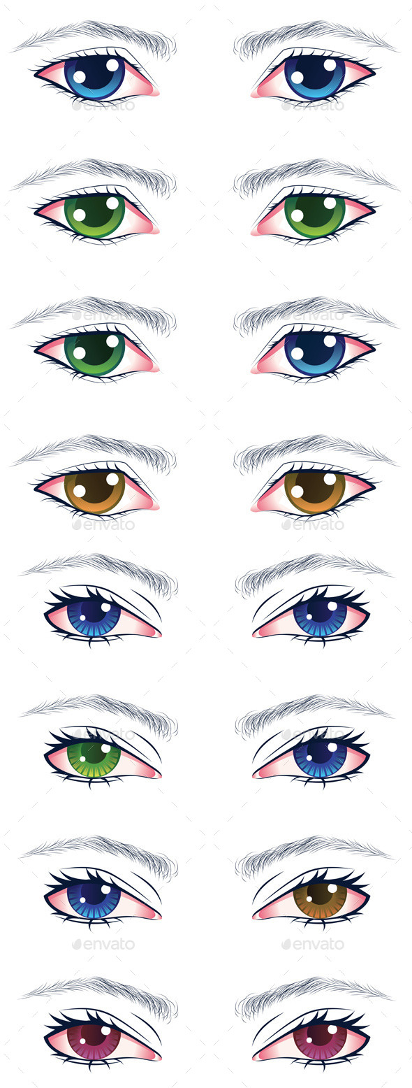 GraphicRiver Colorful Male Eyes 9857747