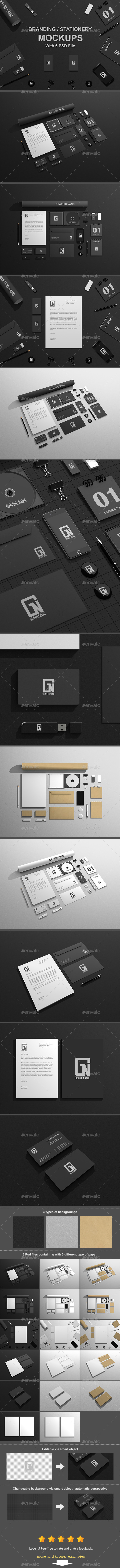 GraphicRiver Branding Stationery Mock-Ups 9857776