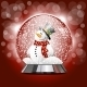 Snow Globe with a Snowman - GraphicRiver Item for Sale