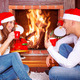 Loving couple by fireplace - PhotoDune Item for Sale