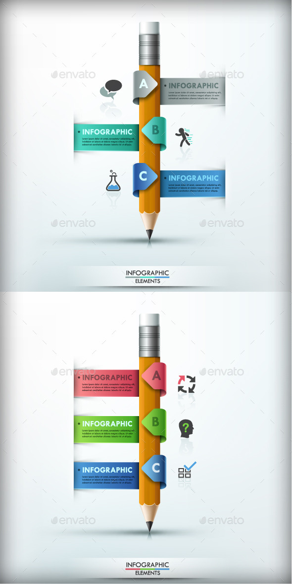 GraphicRiver Modern Infographic Options Banner 2 Colors 9858096