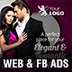Elegant & Romantic Web & Facebook Banners - GraphicRiver Item for Sale