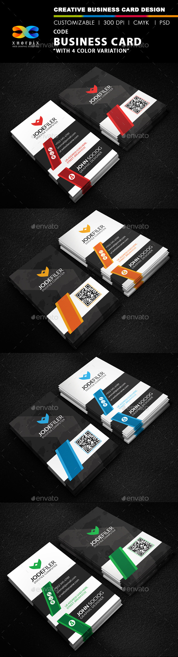 GraphicRiver Code Business Card 9858510