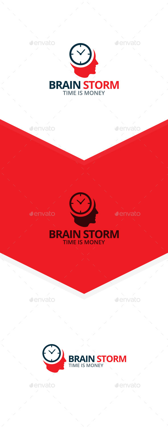 GraphicRiver Brain Storm Logo 9858697