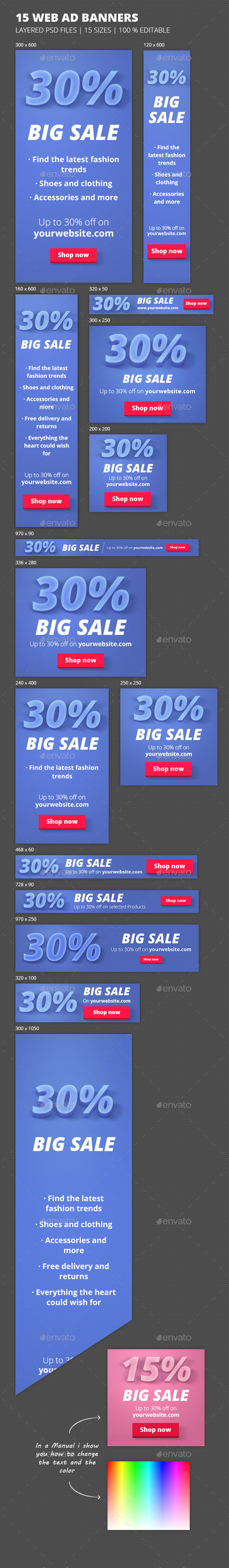 GraphicRiver Online Marketing Big Sale Banners 9804649