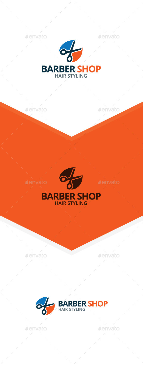 GraphicRiver Scissors Barber Shop Logo 9858728